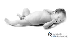 Neugeborener Rückenlage